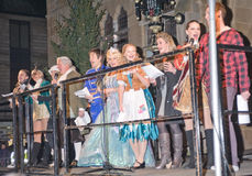 Cast of Cinderella in Inverness. Royalty Free Stock Photo