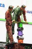 The cast of  Cirque Dreams Jungle Fantasy Royalty Free Stock Photo