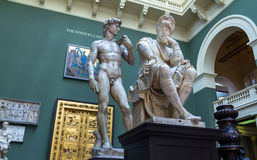 The Cast Courts at the Victoria and Albert Museum. Royalty Free Stock Photography