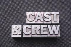 Cast&crew bm royaltyfri fotografi
