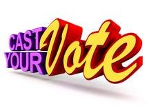 Cast ditt röstar Royaltyfri Fotografi