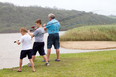 Cast fishing rod Royalty Free Stock Image