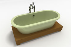 Cast iron bathtub Stock Image