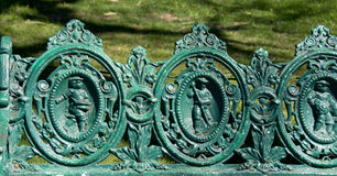 Cast iron bench Royalty Free Stock Photo