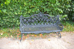 Cast iron bench. The palace and park manor graphs Sheremetevs Stock Image