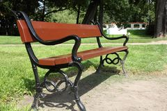 Cast iron bench Royalty Free Stock Photos