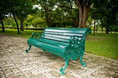 Cast-iron bench in park Royalty Free Stock Images