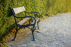 Cast-iron bench in park Stock Images