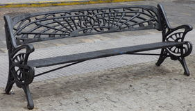 Cast iron bench Royalty Free Stock Images