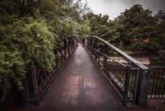 Cast Iron Bridge over San Antonio River Royalty Free Stock Images