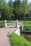 Cast-iron bridge in Pavlovsk park Royalty Free Stock Photos