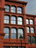 Cast Iron Building. Typical cast iron building facade made last century in Baltimore, Maryland Stock Photo