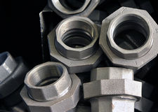 Cast iron bushings Royalty Free Stock Images