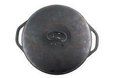 Cast iron cauldron stock images