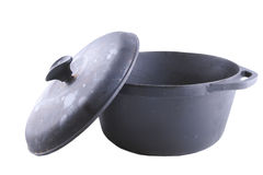 Cast iron cauldron Royalty Free Stock Images