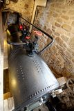 Cast iron coal fired boiler of an industrial steam engine used a. T a tin mine in Cornwall Royalty Free Stock Images