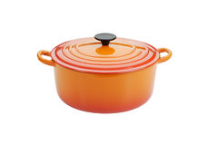 Cast iron cooking pot. Cast iron cooking pot with clipping path in largest size file Royalty Free Stock Photo