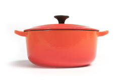Cast iron cooking pot  Royalty Free Stock Photos