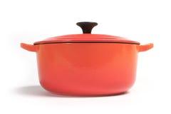 Cast iron cooking pot  Royalty Free Stock Photos