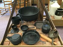 Cast iron cookware Royalty Free Stock Image
