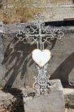 Cast iron cross ornament Stock Photo