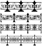 The cast iron fence. Stock Photography