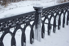 Cast iron fence Royalty Free Stock Photos