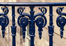 Cast iron fence Stock Photo