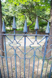 Cast Iron Fence in a Park Royalty Free Stock Image