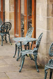 Cast iron garden furniture Royalty Free Stock Photo