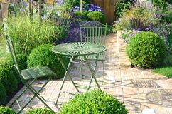 Cast Iron garden furniture outdoors Stock Photo