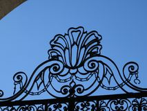 Cast iron gate of church San Pietro in Vincoli stock photo