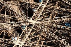 Cast iron girders of the Eiffel Tower Stock Photos