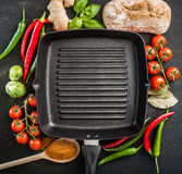 Cast iron griddle Stock Photo