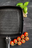 Cast iron griddle Stock Photography