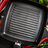 Cast iron griddle Royalty Free Stock Photos