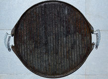 Cast iron grill black steel texture Royalty Free Stock Photos