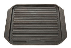 Cast iron grill pan Royalty Free Stock Images
