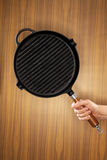Cast iron grill pan Stock Photography