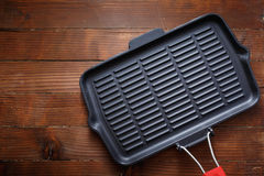 Cast Iron Grill Pan Stock Image