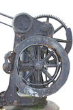 Cast-iron handwheel with gearwheel Stock Images