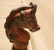 Cast Iron Horse Head Hitching post Stock Photos