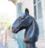 Cast Iron Horse Head Hitching post Royalty Free Stock Image