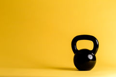 Cast iron kettlebell Royalty Free Stock Image