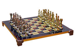Cast iron lacquered chess board Royalty Free Stock Photos