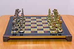 Cast iron lacquered chess board Royalty Free Stock Images