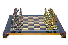 Cast iron lacquered chess board Stock Image