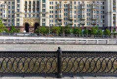 Cast iron lattice in Moscow Royalty Free Stock Photo