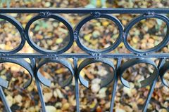 Cast-iron grate Royalty Free Stock Images