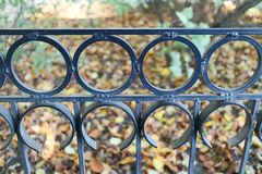 Cast-iron grate Stock Images